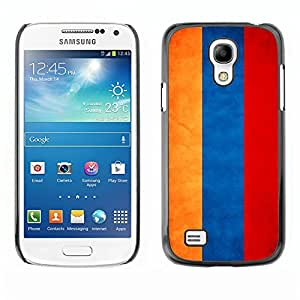 YOYO Slim PC / Aluminium Case Cover Armor Shell Portection //Armenia Grunge Flag //Samsung Galaxy S4 Mini
