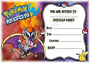 Image Unavailable Not Available For Colour Pokemon Birthday Party Invites