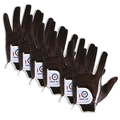 Finger-Ten-Mens-RainGrip-Hot-Wet-Weather-Comfort-Extra-Value-Left-Hand-and-Right-Hand-Golf-Gloves-Value-6-Pack