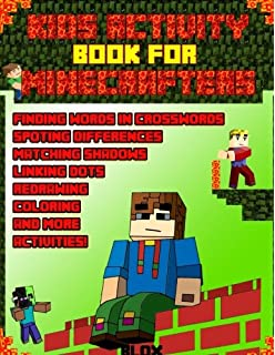 Activity Book For Kids: Minecraft Edition Unofficial: Amazon co uk