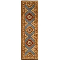 Safavieh Heritage Collection HG408A Traditional Blue and Rust Runner (23 x 8)