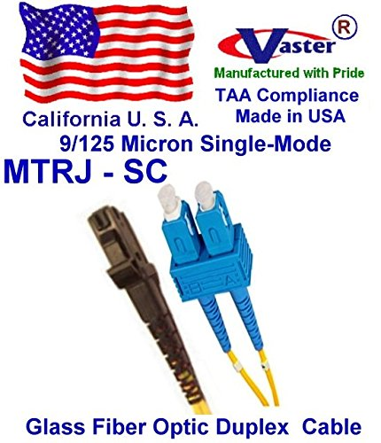 Made in USA, 1500 Ft SM 9/125 SC to MTRJ Duplex (2 Strand)Single-Mode Standard Zipcore - PVC - Color - Yellow