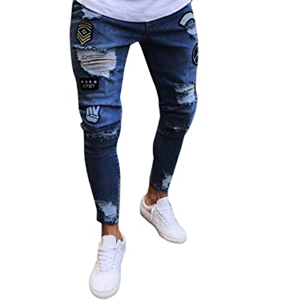 Amazon.com: 🔥🔥Maonet 2018 Men Slim Biker Zipper Denim ...