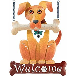 Welcome Sign Decor Dog 15in - Regal Art #R397