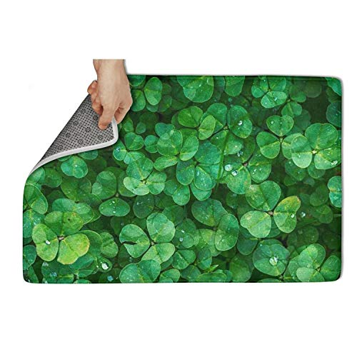 UIIE Green St Patrick's Day Kitchen Shoe Rugs Decor Easy Clean 31