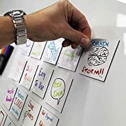 mcSquares Stickies Dry-Erase Sticky Notes - Reusable Whiteboard Stickers - 3 inch Square 24 Pack - Post Remind