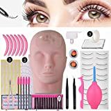 Best Eyelash Extension Kits - N-Fasion Professional Lashes Kit False Eyelash Extensions Practice Review