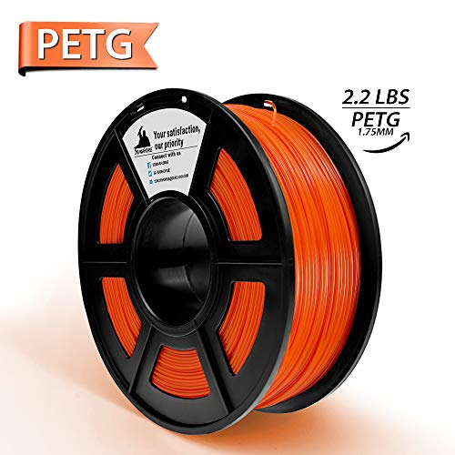Products Scale Ho Type - 3D Printer Filament PETG 1.75 mm 2.2LBS(1KG) Spool, Dimensional Accuracy +/- 0.02 mm,No Tangled,NO Clogging 3D Printing Filament PETG Orange