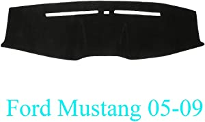 Yiz Dash Cover Dashboard Cover Pad Mat Custom Fit for Ford Mustang 2005 2006 2007 2008 2009 (Black) Y63