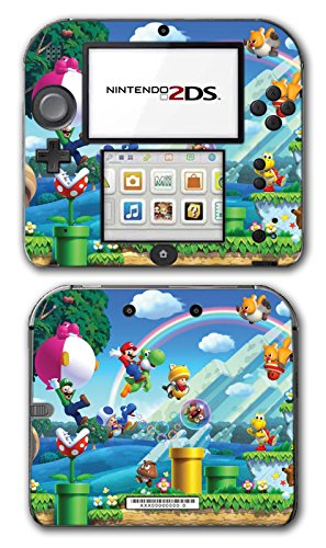 New Super Mario Bros 2 3D Land World Luigi Goomba Video Game Vinyl Decal Skin Sticker Cover for Nintendo 2DS System Console (Playstation 3 Super Mario)