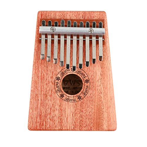 Kalimba Thumb Piano 17&10 Keys, Finger Piano Mbira Musical instrument with Tune-Hammer, Mahogany Body Ore Metal Tines Special Gift Birthday Gift for Kids Adult Beginners or Musician Composer (10 Keys)