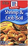 McCormick Shrimp & Crab Boil Spice, 3-Ounce Units (12 boxes, 24 packets total)