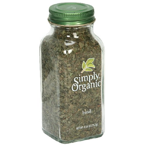 Simply Organic Basil Certified Organic, 0.54-Ounce Containers (Pack of 6)