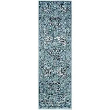 Safavieh EVK220E-211 Evoke Collection Light Blue and Light Blue Runner, 2' 2   x 11'