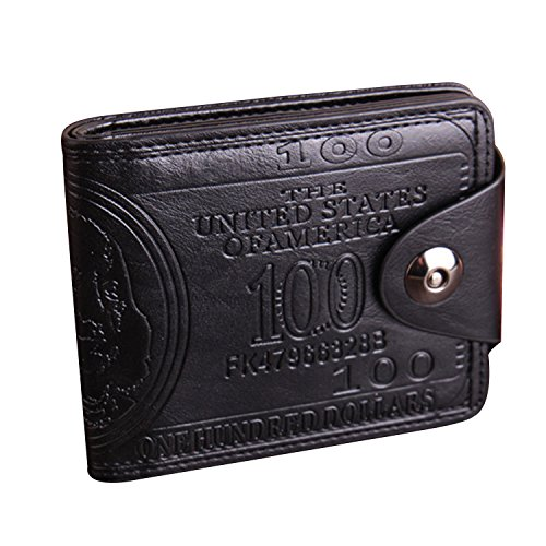 Kuang Men's US Dollar Bill Wallet Card Holder Bifold Purse with Magnetic - 5 Dollar Fashion