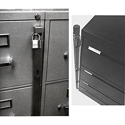 Locking Bar For Use With 4 Drawer Filing Cabinet (cabinet Not Included)   2