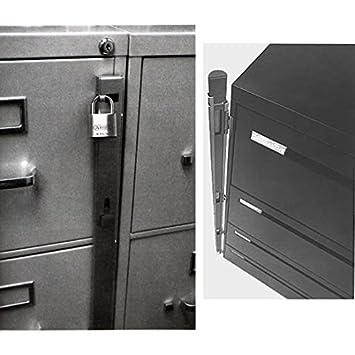 Amazon.com: ABUS 07040 46.0-Inch Chrome File Bar 4 Drawer, Grey ...