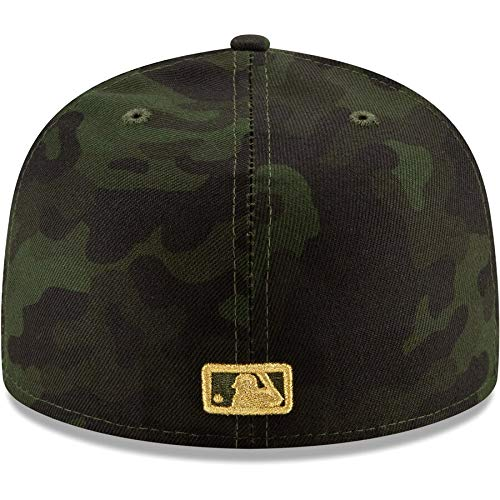 79941ed12435b2 Amazon.com : New Era New York Mets 2019 MLB Armed Forces Day On-Field  59FIFTY Fitted Hat - Camo : Sports & Outdoors
