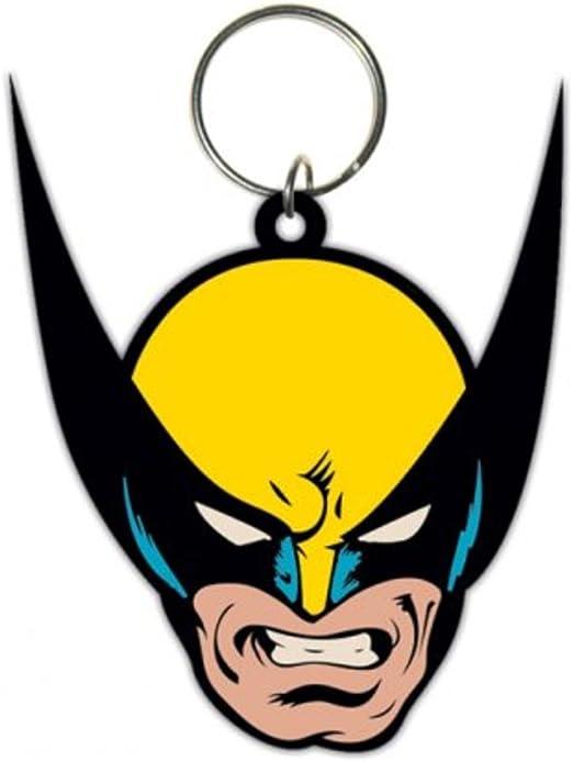 X-Men – Wolverine – cara – oficial de goma llavero: Amazon.es: Hogar