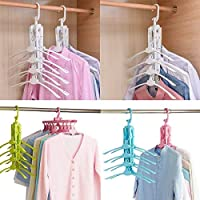 Bhavyam 8 in 1 Multi-Function Magic Scalable Folding 360 Degrees Can Rotate Space Saving Clothes Hanger Rack