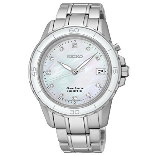 SEIKO SKA881P1,Ladies Sportura Kinetic,Mother Of Pearl Dial,Diamonds on Dial,Sapphire Crystal,SKA881