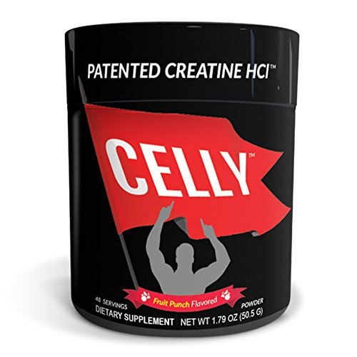 Celly Patented Pure Creatine HCl Powder, Fruit Punch Flavored, 750 mg, 48 Servings