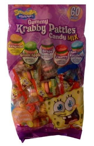 Spongebob Squarepants Gummy Krabby Patties for Egg Hunts and Baskets (60 Count)