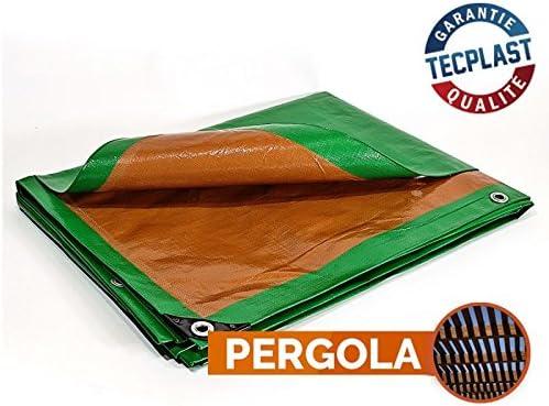 Bâche pergola 250 g/m² - 5 x 8 m - toile pergola - toile pour ...
