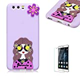 Huawei P10 Plus Case.Funyye Cute 3D Candy Colorful Series Design Soft Silicone Back Case Cover for Huawei P10 Plus-Pretty Girl