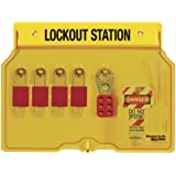 Master Lock 4-Padlock Capacity Lockout Station with Cover