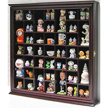 collectible display case wall curio cabinet shadow box solid wood glass door. Black Bedroom Furniture Sets. Home Design Ideas