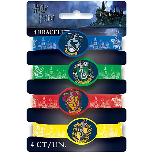 Harry Potter Silicone Wristband Party Favors, (English Themed Costume Party)