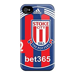 Hot FIqjxCC2041tZmAm Popular Fc Of England Stoke City Tpu Case Cover Compatible With Iphone 4/4s
