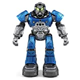 GBSELL JJRC R5 Intelligent RC Flash Dancing Robot Auto-follow Two Control Modes Gesture Sensor Kids Toys Gifts (Blue)