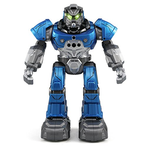 GBSELL JJRC R5 Intelligent RC Flash Dancing Robot Auto-follow Two Control Modes Gesture Sensor Kids Toys Gifts (Blue) by GBSELL Toy