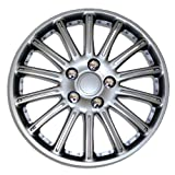 2009 toyota corolla s hubcaps - TuningPros WC-15-1007-S 15-Inches-Silver Improved Hubcaps Wheel Skin Cover Set of 4