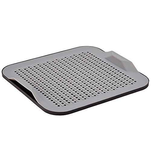 Better Houseware 2-Piece Silicone Drying Mat, Gray