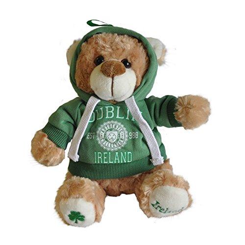 Cream 20cm Teddy Bear With Dublin Ireland Est 988 With Hooded Top ()