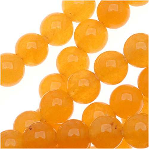 Tangerine Candy Jade 4mm Round Beads / 15.5 In. - Beads Round Candy Jade