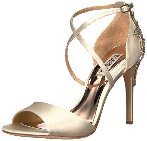 Badgley Mischka Bridal - Badgley Mischka Women's Karmen Heeled Sandal, Ivory, 7 Medium US