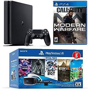 Best Epic Trends 51UOxvku9aL._SS300_ 2019 Playstation 4 PS4 Pro 1TB Console + Playstation VR Headset + Camera + 6 Games Bundle