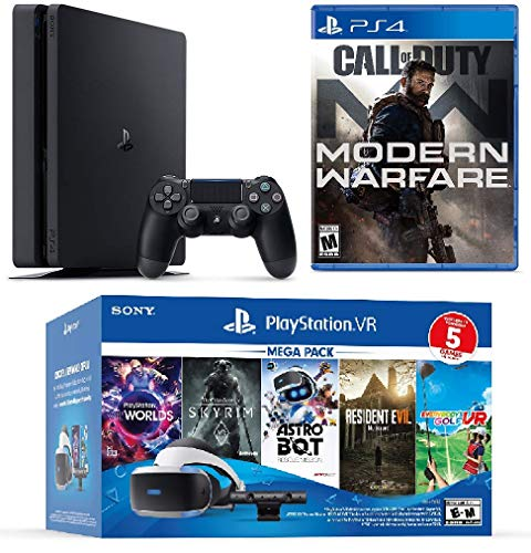 2019 Playstation 4 PS4 Pro 1TB Console + Playstation VR Headset + Camera + 6 Games Bundle