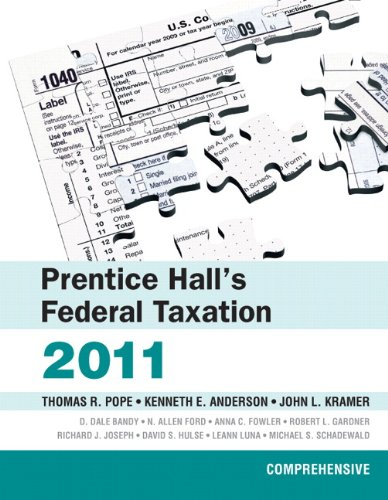 Prentice Hall's Federal Taxation 2011: Comprehensive (24th Edition)