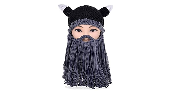 VBIGER Beard Hat Beanie Hat Knit Hat Winter Warm Octopus Hat Windproof  Funny Men   Women 520df4a6f0f9