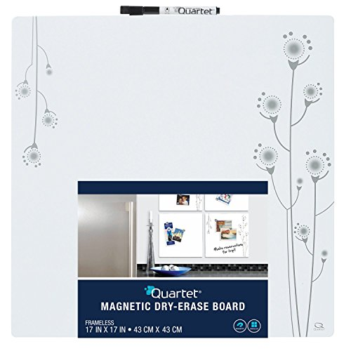 Quartet Magnetic Tin Square Dry-Erase Board, 17 x 17 Inches, Frameless, White (79244) (Dry Erase Squares)