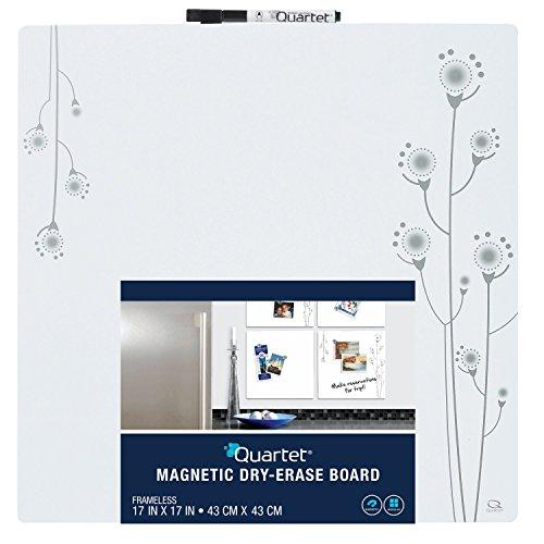 Quartet Magnetic Tin Square Dry-Erase Board, 17 x 17 Inches, Frameless, White (79244) (Erase Squares Dry)