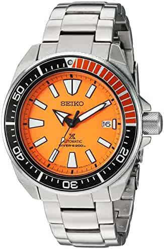 Seiko Men's SRPC07 Prospex Analog Display Automatic Self Wind Silver Watch