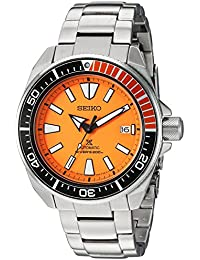 Mens SRPC07 Prospex Analog Display Automatic Self Wind Silver Watch. SEIKO