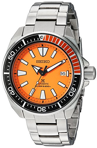 Seiko Men's SRPC07 Prospex Analog Display Automatic Self Wind Silver Watch]()