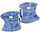Wegreeco Jeans Washable Male Dog Diapers (Pack of 2) - Washable Male Dog Belly Wrap (X-small - 11